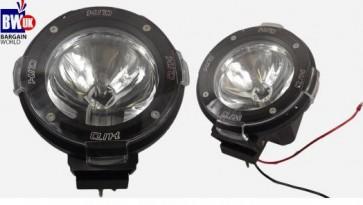 """2 x 4"""" HID Black Xenon Driving Light Off Road Beam Spot light Car SUV Jeep 4x4"""