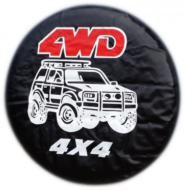 4X4 4WD Drive Wheel cover rear spare tyre wheelcover to fit all 4x4 and caravans