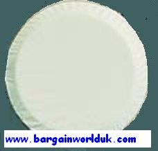 Plain White Soft High Quality rear tyre spare Wheel cover for 4x4 and Scooters Motorvans Caravans