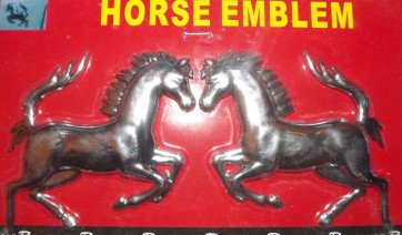 Jumping horses horse Chrome badge 3D cards logo emblem adhesive mirror AC19/H