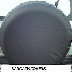 Plain Black wheel cover rear spare tyre wheelcover to fit all 4x4 and caravans