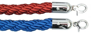 1.5m long Twisted Braided Queue Barrier Rope ropes Red Blue Posts Stands Divider