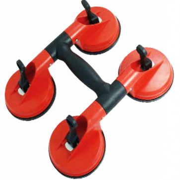 Glass Lifter Quad Suction Cup 4 Pads 115mm Carrying 120kg 115mm pad size CA104