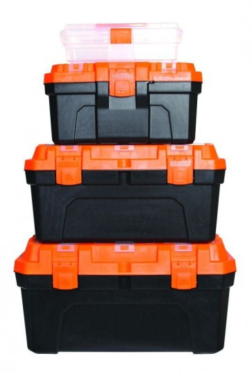 4 IN 1 TOOLBOX SET OF 4 AUTOMOTIVE STORAGE TOOL BOX GARAGE CARRY HANDLE CA14