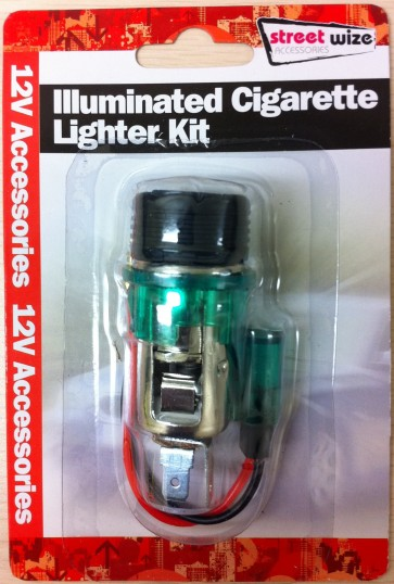 CIGARETTE LIGHTER KIT ILLUMINATED 12V AUTOMOTIVE ACCESSORY VEHICLE CA62