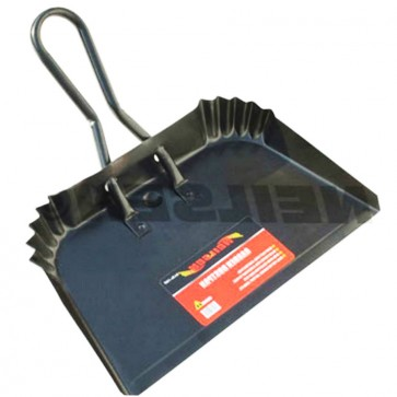 "HEAVY DUTY GARDEN DUSTPAN METAL CONSTRUCTION GARAGE WAREHOUSE EXTRA WIDE 16"" CA7"