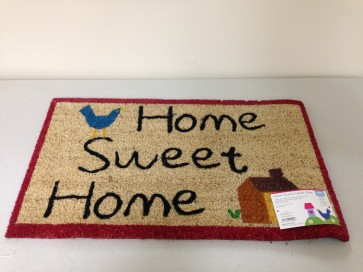 HOME SWEET HOME DOOR MAT COIR PVC BACKED 40CM X 70CM ENTRANCE DOORMAT CA74