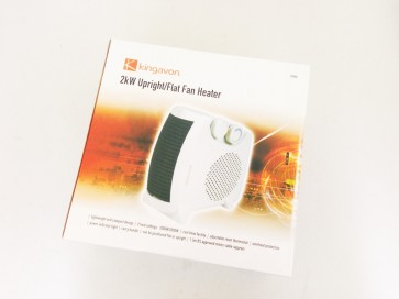 UPRIGHT FLAT FAN HEATER 2KW MAINS COOL HEAT BLOW THERMOSTAT COMPACT CA85