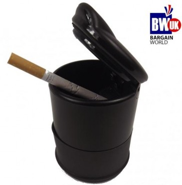 PORTABLE ASHTRAY ASH TRAY TRAVEL CARRY CIGARETTE HOLDER FIREPROOF SMOKE CUP UK