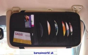 CD card visor holder cars vans sun blind organiser hold all windscreen cards NEW