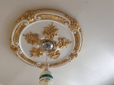 Ceiling rose Gold White Beautiful Ornate Home Decor 66cm Victorian Medallion Chandelier light Fan Rose CR8
