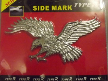 Flying eagle Chrome Silver badge 3D cards logo emblem stick on NEW