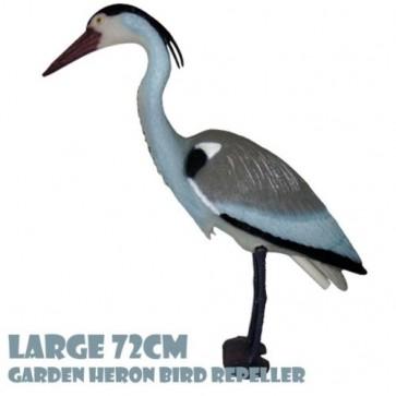LARGE 72CM HERON Bird Deterrent Repellent FISH KOY POND garden ornament Scare H2