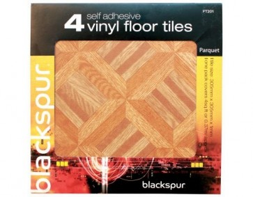 4PK SELF ADHESIVE FLOOR TILES PARQUET EFFECT FLOORING 4 SQ FT COVERED H30PARQUET