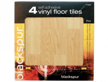 4PK SELF ADHESIVE FLOOR TILES PINE EFFECT FLOORING 4 SQ FT COVERED H30PINE