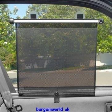 SELF ADHESIVE KIDS CAR VAN SUN SHADES ROLLER BLINDS NISSAN WINDOW PRIVACY New!