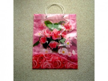 Large Reusable Decorative Gift Bag ROSE FLOWER Carrier 31 x10x39cm LS16