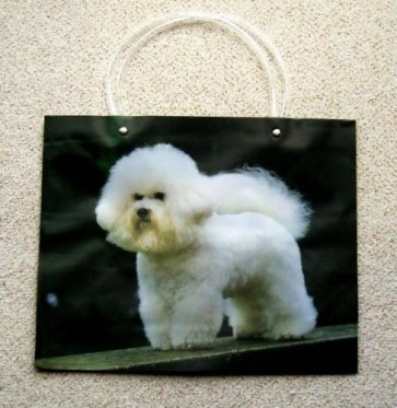 1 x Large Reusable Decorative Gift Bag Carrier Poodle Dog 33 x 10 x 26cm LS7