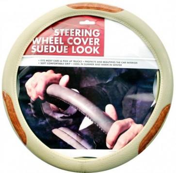 Universal Car Van Truck Steering Wheel Cover White Sports Comfortable Grip N1