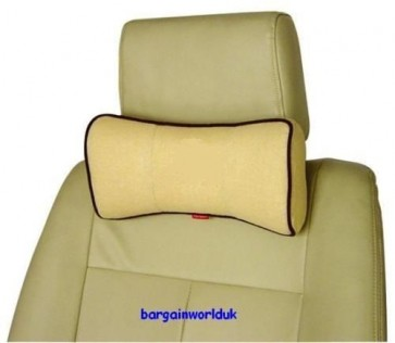 Neck pillow car lorry van caravan 4x4 drivers seat head back support comfort NEW