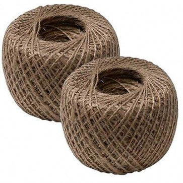 2 x Natural Garden String Jute Twine Ball Rope Roll Plant Ties Line 250mm P11