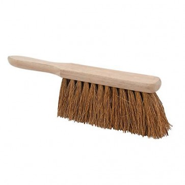 "BRAND NEW HAND BRUSH SOFT COCO CLEANING CONTRACTORS BROOM HEAD 179 MM 11"" P113"