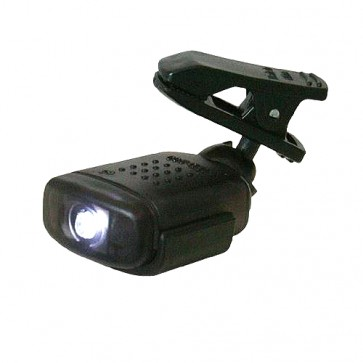 BRAND NEW CLIP-ON LIGHT SWIVEL HEAD 1 LED TORCH LAMP LITHIUM BATTERY P169