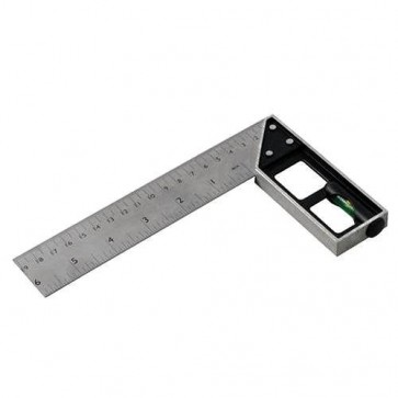 BRAND NEW TRI & MITRE SQUARE WITH SPIRIT LEVEL 150 MM MEASURING TOOLS DIY P218