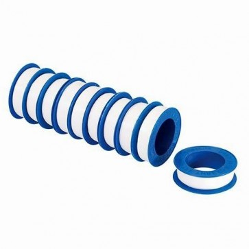 BRAND NEW PTFE TAPE 10PK 12 MM x 12 M PLUMBING ADHESIVE PIPE SEALS P231