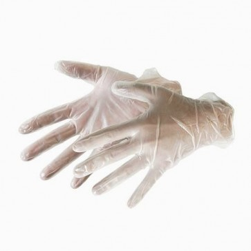BRAND NEW VINYL GLOVES 100PK DISPOSABLE SAFTEY LARGE WORKWEAR PRE-POWDERED P243