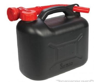 BRAND NEW PLASTIC FUEL CAN 5 LTR PETROL INCLUDES SPOUT AUTOMOTIVE TOOLS P291