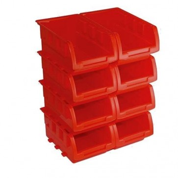 BRAND NEW STACKING BOXES SET 8PCE 165 x 195 x 75 MM TOOL STORAGE GARAGE P302