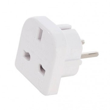 BRAND NEW UK TO EU TRAVEL ADAPTOR 2 PIN 220 - 240 V CONVERT CONVERTER P39