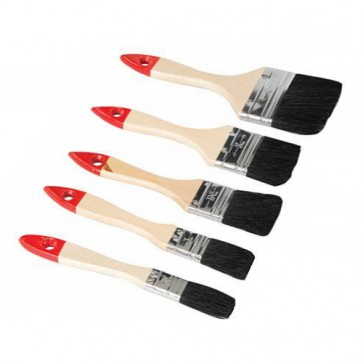BRAND NEW DISPOSABLE BRUSH SET 5PCE VARIOUS SIZES DECORATING PAINT BRUSHES P53