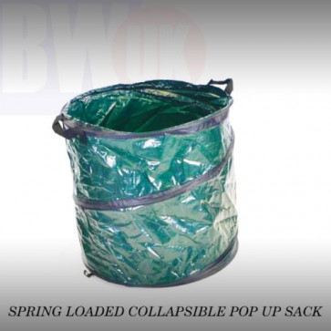 POP UP GARDEN BIN LEAVES GRASS CLIPPINGS FOLDABLE REFUSE SACK BAG 90 LITRE (S31)