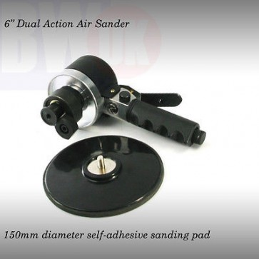 "6"" Orbital Hand Air Sander Double Random Palm Vacuum + 150mm sanding Pad (S40)"