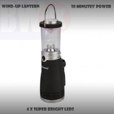 WIND UP 4 LED LANTERN LAMP LIGHT TORCH CAMPING CAR CARAVAN BOAT EMERGENCY S56