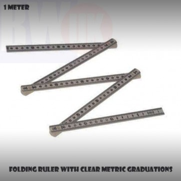 Folding Ruler Metric Ruler Rule Measure Metre Ruler 1m 3 feet Yard Stick S57