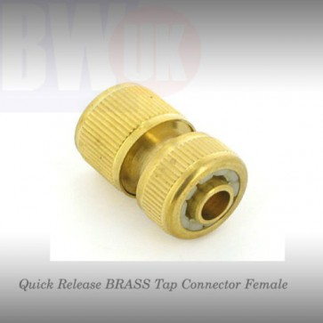 "Quick Release BRASS Tap Connector Pipe Female fit to 1/2"" Garden Hozelock S63"