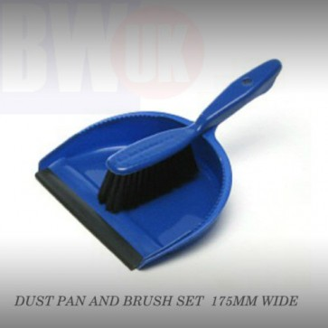 NEW DUST PAN DUSTPAN AND BRUSH SET FLAT SWEEPER DUSTER NYLON BRISTLE BROOM S67