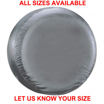 PLAIN SILVER 4x4 wheel cover to fit all rear spare tyre tire car van caravan NEW