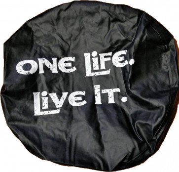 4X4 TYRE COVER 'ONE LIFE LIVE IT' SPARE WHEEL TIRE REAR COVER HONDA SUZUKI NEW