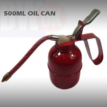 500ml Red Metal Oil Can Lubrication Flexi Spout Lever Oil Cans Car Oilers T11