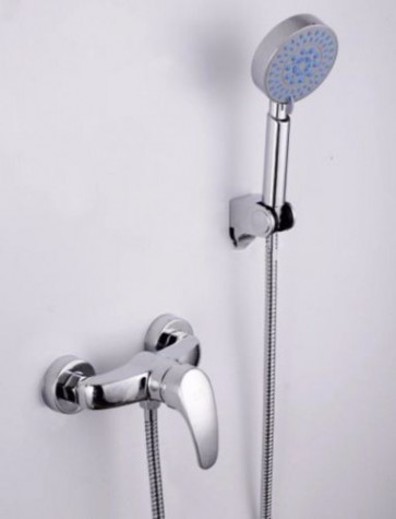 Modern Chrome Mixer Tap Hand Held 5 Function Shower Head Bathroom Taps TAP16