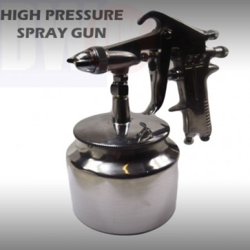 HIGH PRESSURE AIR SPRAY PAINT GUN BODYSHOP TOOL HIGH PRESSURE AIR CHROME T18