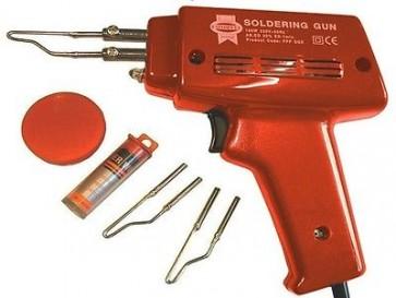 HEAVY DUTY FAST HEAT ELECTRIC ELECTRICAL SOLDERING GUN KIT 100W SOLDER 240V T36