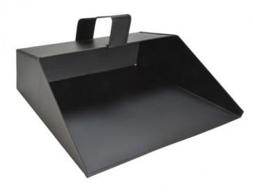 "11"" Metal Hooded Dust Pan Large Black Handheld House Work Dustpan Ash TB-FAI13"
