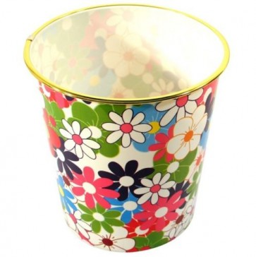 Printed Waste Basket Bin wastebasket paper Trash Can office home bedroom U208