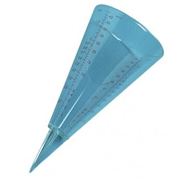 Accurate CONE shaped rainfall Measuring Gauge millimetres inches U220