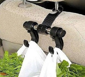 CAR GROCERY BAG HOLDER HOOK HELPER EASY STORAGE CLIP ON HOOK SEAT BAGS U234